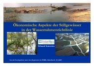 Ökonomische Aspekte der Stillgewässer in der - Global Nature Fund