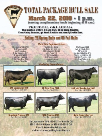TOTAL PACKAGE BULL SALE - Angus Journal