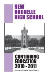 NEW ROCHELLE HIGH SCHOOL - City School District of New ...