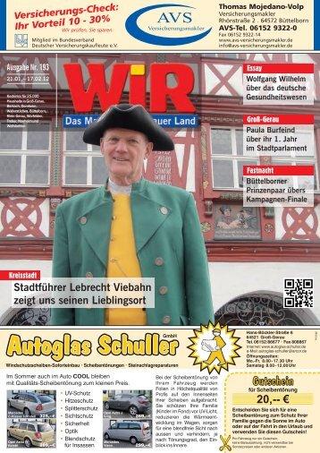 Ich mache mit, weil - Das WIR-Magazin im Gerauer Land