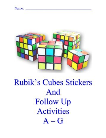 Rubik's Cube Stickers - You CAN Do the Rubik's Cube!
