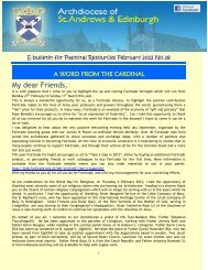 E-Bulletin Issue 18 February 2012 - Archdiocese of St Andrews and ...