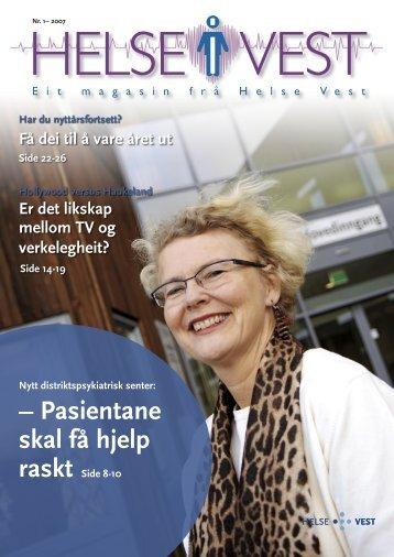 2007-01_Helseivest_web - Helse Vest