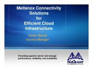 Mellanox Connectivity Solutions for Efficient Cloud Infrastructure