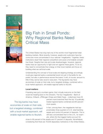 Big Fish in Small Ponds: Why Regional Banks Need Critical Mass
