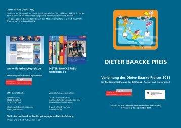 Handout der Preisverleihung als PDF-Datei - Dieter Baacke Preis