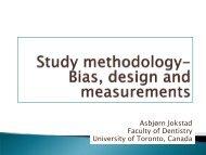 EBD lecture 3 2012 view - Asbjorn Jokstad, Professor, Faculty of ...