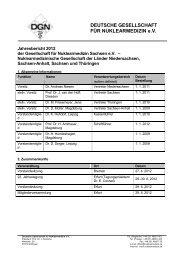 DGN: - Jahresbericht 2012 - Deutsche Gesellschaft für Nuklearmedizin