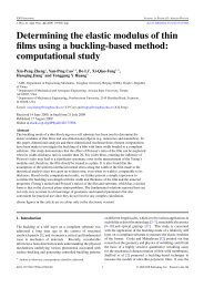Determining the elastic modulus of thin films using ... - Hanqing Jiang