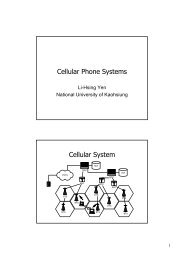 Cellular Phone Systems Cellular System