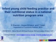 Infant young child feeding practice and their nutritional status in a ...