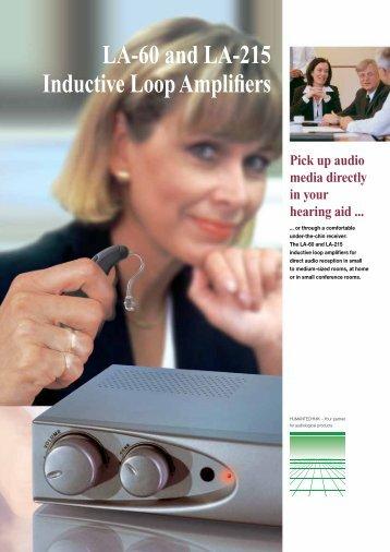 LA-60 and LA-215 Inductive Loop Amplifiers - Humantechnik