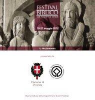 Programma Festival Biblico - Comune di Vicenza