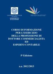 Brochure Corso a.a. 2012/2013 - Ordine dei Dottori Commercialisti e ...