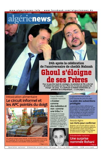 Fr-16-06-2013 - Algérie news quotidien national d'information