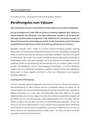 Berührungslos zum Vakuum - Pr-box.de