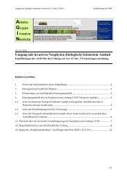Umgang mit Invasiven Neophyten belastetem Aushub - Extranet