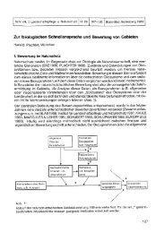 Zur biologischen Schnellansprache und Bewertung von Gebieten