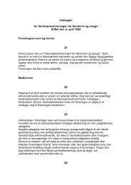 Vedtægter for Håndværkerforeningen for Hørsholm og omegn Stiftet ...