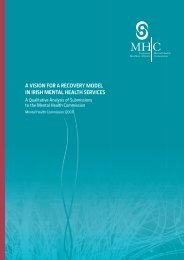 a vision for a recovery model in irish mental health services
