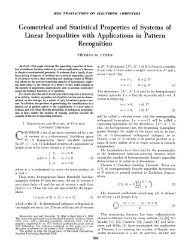 Geometrical and Statistical Properties of Systems of - Information ...