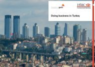 HSBC Doing business in Turkey
