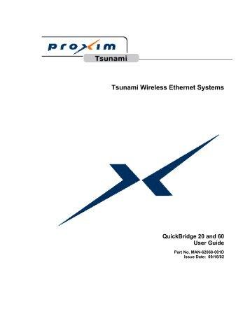 Tsunami Wireless Ethernet Systems
