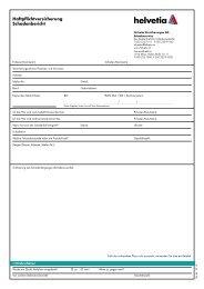 Schadensmeldung - Haftpflichtversicherung - Helvetia