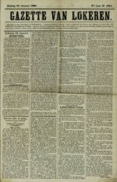 Zondag 25 Januari 1880. 37» Jaar N° 1920. Lokeren 24 Januari.