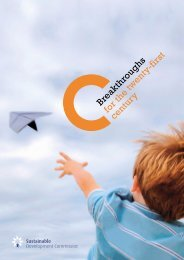 Breakthroughs for the twenty-first century - Sustainable ...