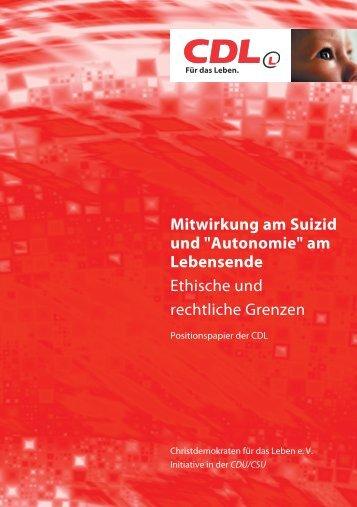 """Mitwirkung am Suizid und """"Autonomie"""""""