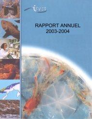 Rapport annuel 2003-2004 - Institut des sciences de la mer de ...