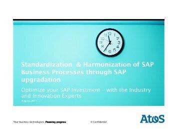 Standardization & Harmonization of SAP Business Processes ...