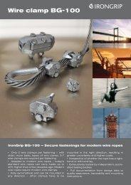 BG-100 wire clamp - IronGrip