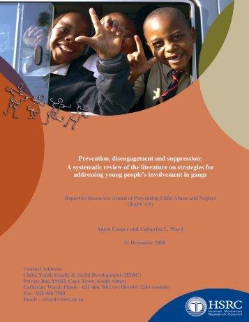 RAPCAN's Prevention, Disengagement and Suppression Study (PDF)
