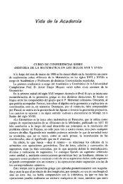 Vida de la Academia - Real Academia de Ciencias Exactas, Físicas ...