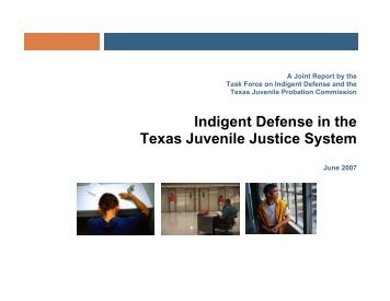 Indigent Defense in the Texas Juvenile Justice System