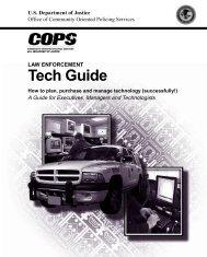 Law Enforcement Tech Guide - SEARCH - National Consortium for ...