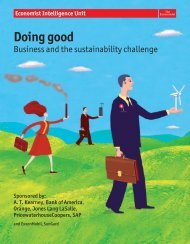 Doing good - Economist Intelligence Unit