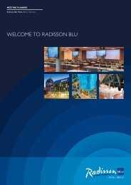 Brochure (British English with metre dimensions) - Radisson Blu