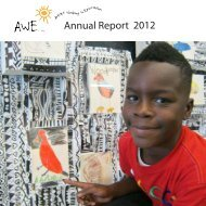 Annual Report 2012 - Artists Working in Education