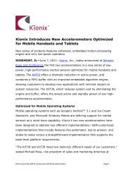 Kionix Introduces New Accelerometers Optimized for Mobile ...