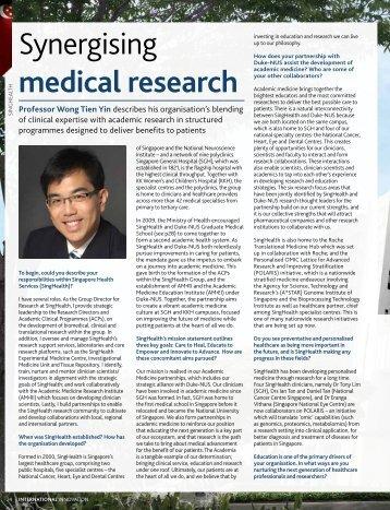 Synergising medical research - Duke-NUS