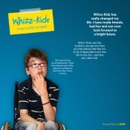 Whizz-Kidz has really changed my life: I have made friends, had fun ...