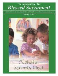 January 27, 2013 - The Catholic Community of the Blessed Sacrament