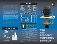 NEW HIGH EFFICIENCY PUMPS FROM SERFILCO - Net