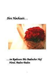Hochzeitsmappe 2012 - NEU - Radisson Blu