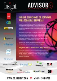 inSight: SoLUcionES DE SoFtWARE PARA toDAS LAS EmPRESAS