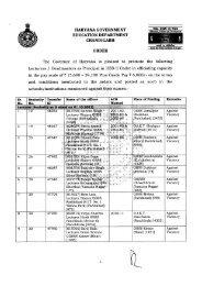 HARYANA GOVERNMENT EDUCATION DEPARTMENT ...