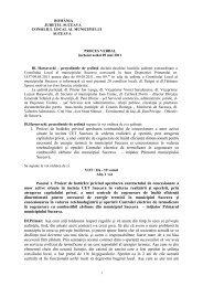 Proces verbal şedinţa din 9 mai 2011 - Primăria Municipiului Suceava